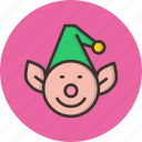 christmas, elf, gift, help, helper, santa icon