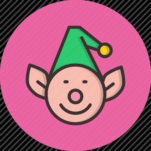 christmas, elf, gift, help, helper, santa icon