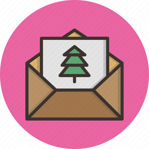 christmas, greetings, invitation, mail, new year, party, wishes icon
