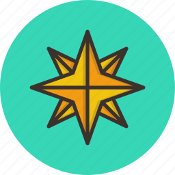 christmas, new year, northern, pole, shiny, star, twinkle icon