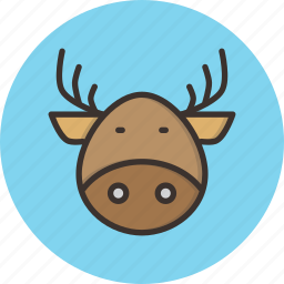 christmas, claus, deer, rein, rudolph, santa, winter icon