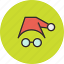 cap, christmas, claus, disguise, gift, present, santa icon