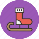 christmas, new year, santa, sledge, snow, socks icon