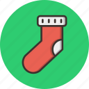 candy, christmas, gift, new year, present, socks, winter icon