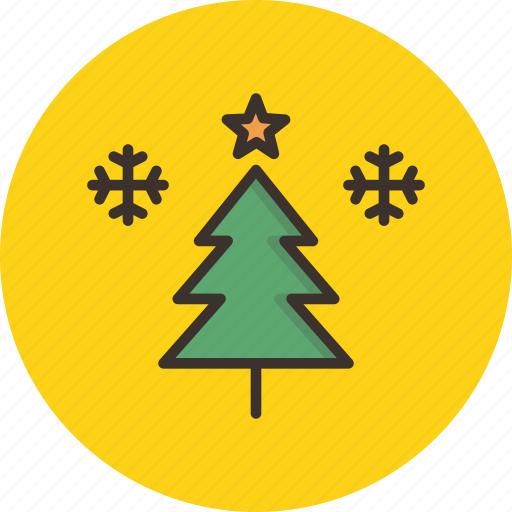 christmas, new year, snow, snowflake, star, tree, winter icon