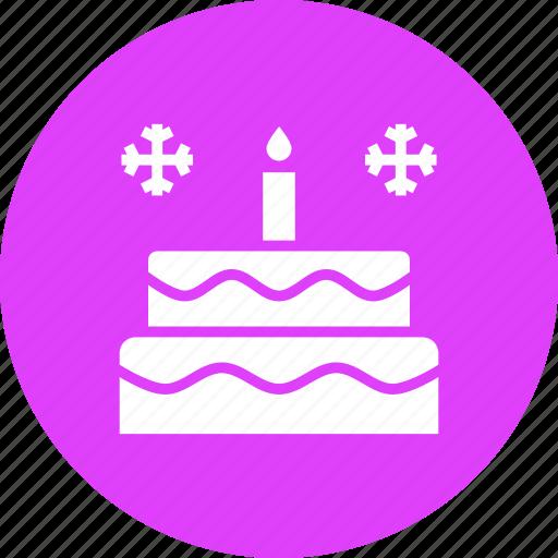 birthday, cake, candle, celebrate, celebration, christmas, new year icon