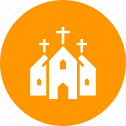 building, christian, christianity, church, cross, institution icon