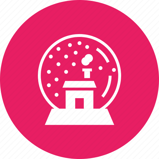 ball, christmas, crystal, gift, house, present, snow icon