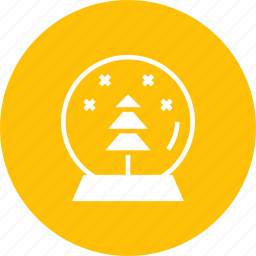 ball, christmas, crystal, gift, new year, snow, tree icon