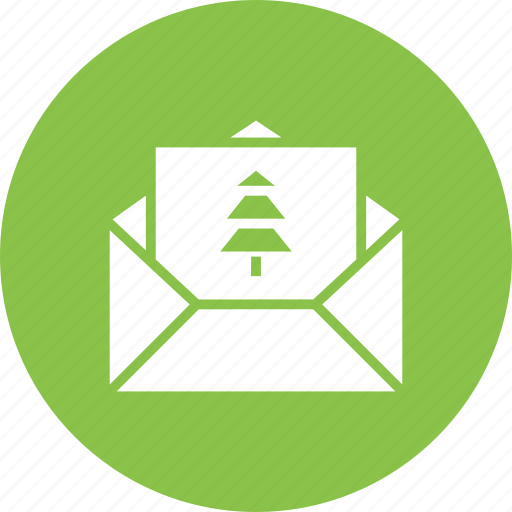 celebration, christmas, invitation, invite, mail, new year icon