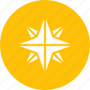 christmas, northern, pole, star, xmas icon