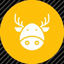 christmas, claus, deer, new year, rein, rudolph, santa icon