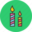 birthday, candle, christmas, light icon