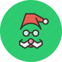 cap, christmas, claus, santa, xmas icon