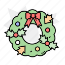 celebration, christmas, christmas wreath, decoration icon
