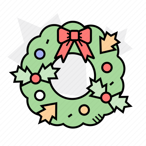celebration, christmas, christmas wreath, decoration icon