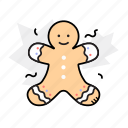 gingerbread, gingerman, holidays icon
