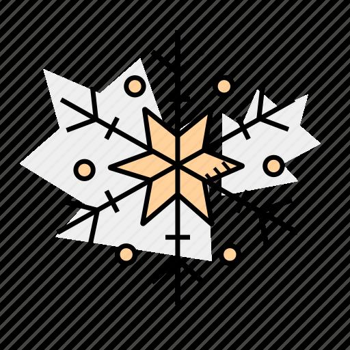 christmas, holidays, snowflake, winter icon