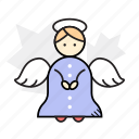 angel, christmas, decoration, winter icon