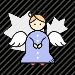 angel, christmas, decoration, winter icon