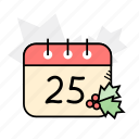 calendar, christmas, holidays, winter icon