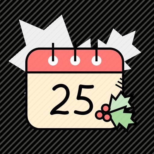 calendar, christmas, holidays, winter icon