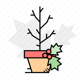 decoration, holidays, tree, winter icon