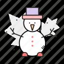 decoration, holidays, snowman, winter icon