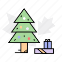 celebration, christmas tree, gifts, presents, tree icon