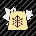 bag, gift, presents, shopping, snowflake icon