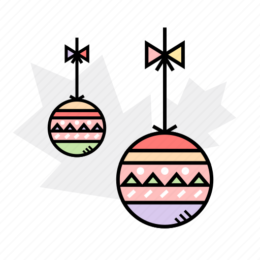 ball, bauble, decoration, winter icon
