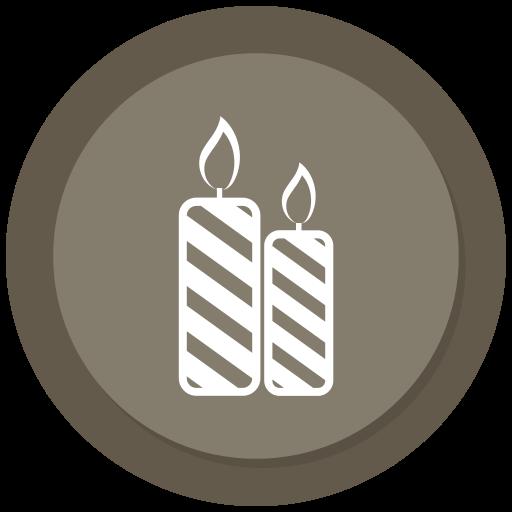 candel, christmas, decoration, light icon