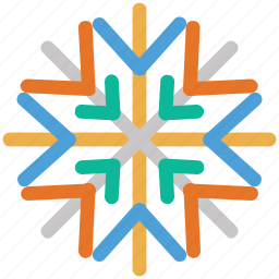 christmas, decoration, snowflake, xmas icon