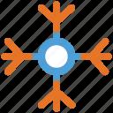 christmas, decoration, snowflake, xmas icon