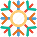 christmas, decoration, snowflake, snowflake lined icon