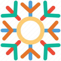 christmas, decoration, snowflake, snowflake lined icon