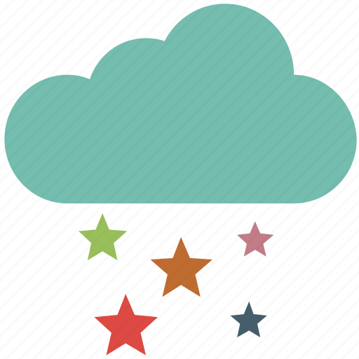 celebration, christmas, clouds and stars, decoration icon
