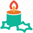 candle, christmas, decorations, xmas icon