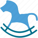 play, rocking horse, toy, toy horse icon