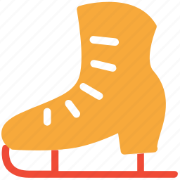 ice skates, ice skating, skates, sports equipment icon