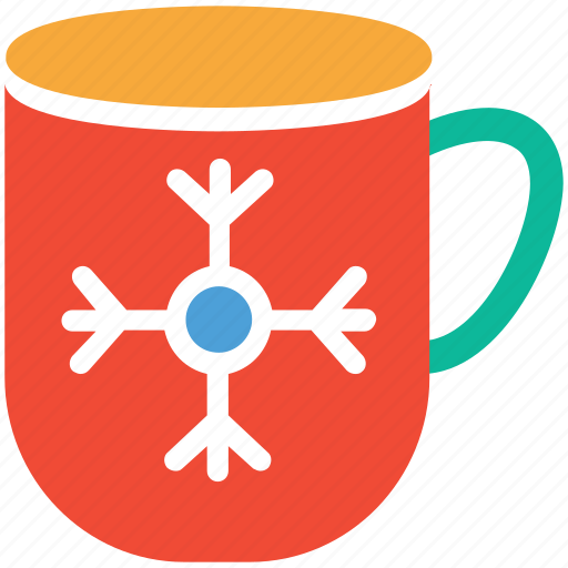 christmas celebration, cup, decoration, snowflake on cup icon