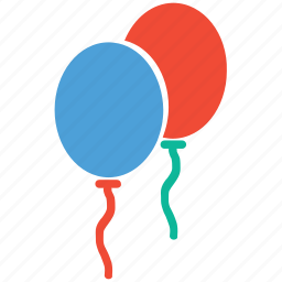 balloons, christmas, decoration, party icon