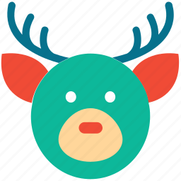 christmas, deer, reindeer, xmas icon