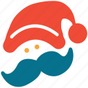 celebration, christmas, face, santa clause icon