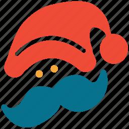 celebration, christmas, face, santa clause icon