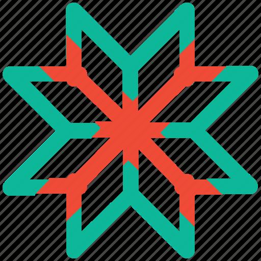 celebration, christmas, decoration, snowflake icon