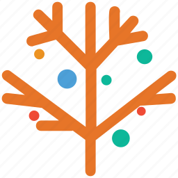 christmas, decorated branch, decorations, tree decorated branch icon