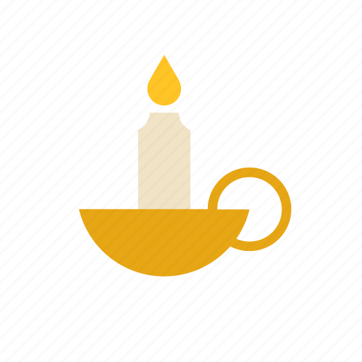 candel, candlestick, fire, light icon