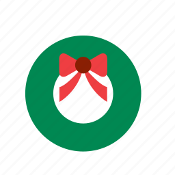 christmas, decoration, decorative, ornament, tree, wreath, xmas icon