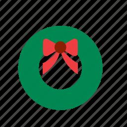 christmas, decoration, decorative, ornament, tree, wreath, xmas icon